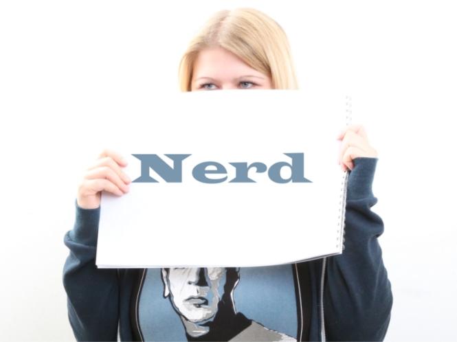 Nerd, Schild, Foto