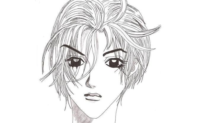Zeichnung, Manga, Skizze, Schwarz-weiß