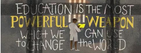 Google Doodle, Mandela