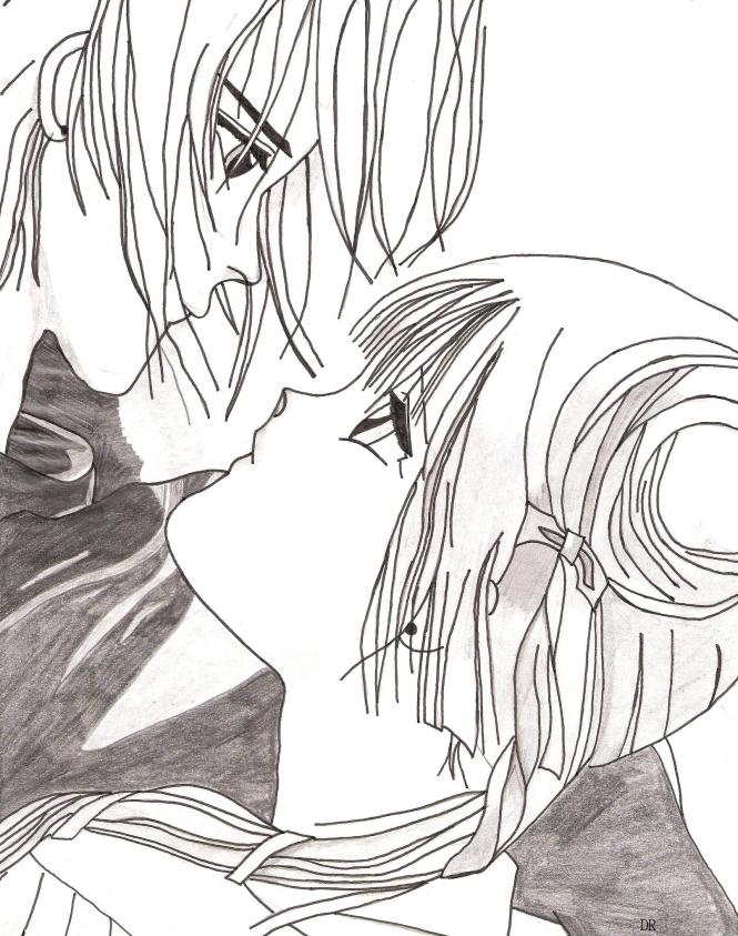 Manga, Zeichnung, Paar, Liebe