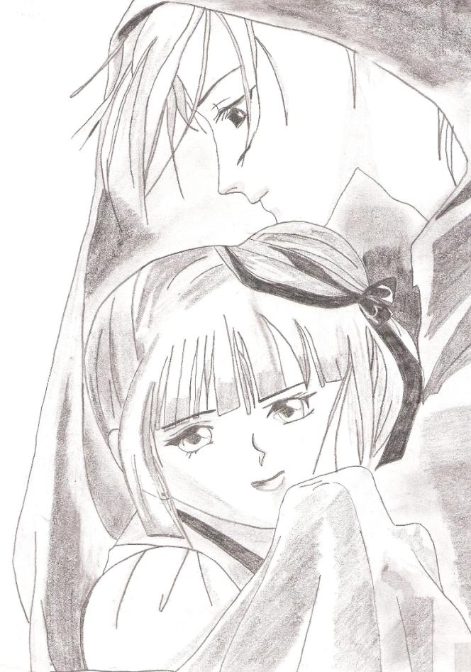 Manga, pärchen, vampire miu