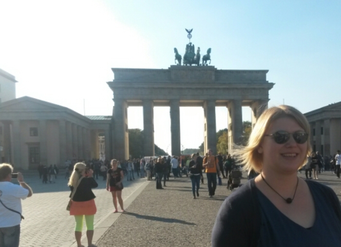 Photobomb, Patriot, Brandenburger Tor, Berlin
