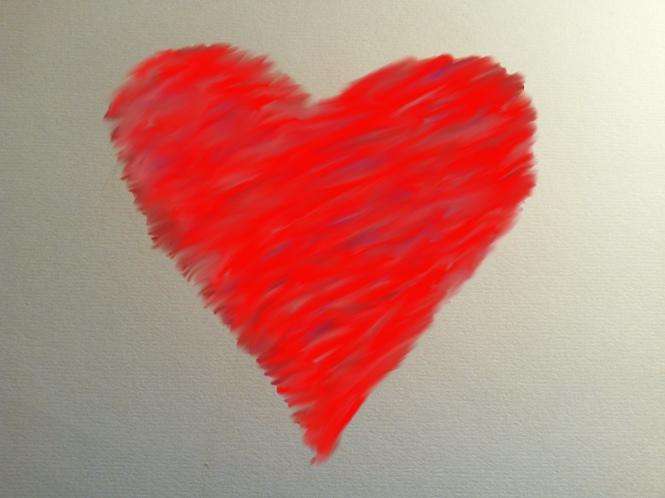 Herz, Liebeskummer, Zeichnung, Kunst