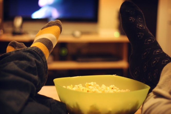 movie, popcorn, flickr