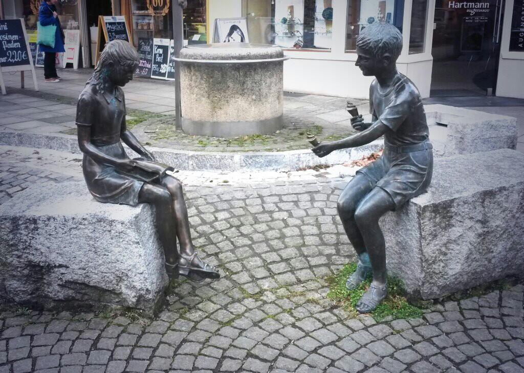 statue, icecream, boy, girl, maybe, someday, love