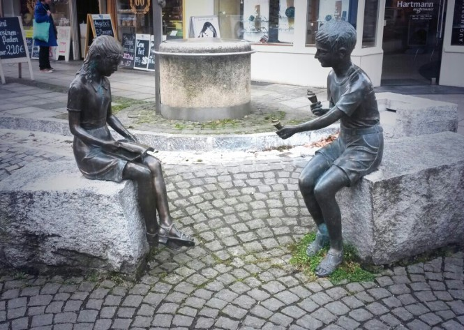 statue, icecream, boy, girl, maybe, someday, love
