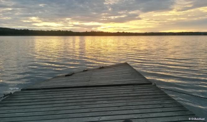 Sonnenuntergang, See,