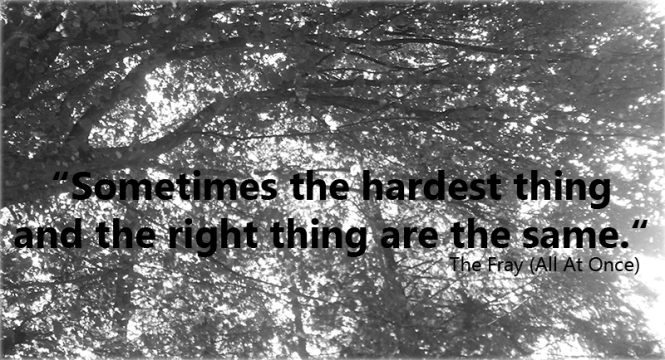 The Fray, ending, hardest thing, lyrics