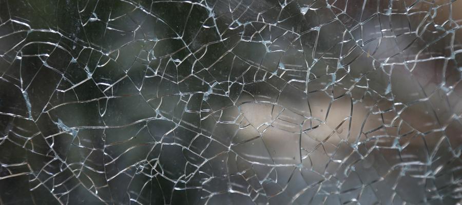 broken glass, shattered, pretend, mask